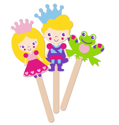 Picture of Krafty Kids Kit: DIY Foam Character Stick Puppets -  Enchanted (3pc)