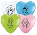 "Picture of 6"" Hearts Disney Princesses - Qualatex Balloon (100/bag)"