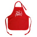 Picture of Face Painter - Medium Length Apron With Pouch - Red