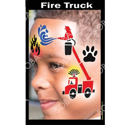 Picture of Fire Truck Stencil Eyes Profiles - SOBA