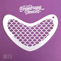 Picture of Art Factory Boomerang Stencil - Mermaid Scale (B013)