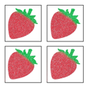 Picture of Mini 4 in 1 Strawberry Glitter Tattoo Stencil - HP (5pc pack)