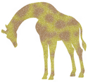 Picture of Giraffe Glitter Tattoo Stencil - HP (5pc pack)