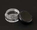 Picture of Empty Clear Jar w/ Black Lid - 5 ml