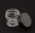 Picture of Empty Clear Thin Wall Jar w/ Black Lid - 7.5 ml
