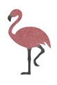 Picture of Flamingo Glitter Tattoo Stencil - HP (5pc pack)