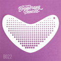 Picture of Art Factory Boomerang Stencil - Halftone (B022)