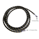 "Picture of Braided Airbrush Hose - 1/8"" Airbrush Fitting 1/8"" Compressor Fitting  (3T0033) - 9.8' (3m)"