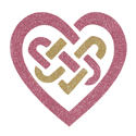 Picture of Celtic Heart Knot Glitter Tattoo Stencil - HP (5pc pack)