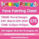 Picture of One Stroke Face Painting Beginner Class - Floral Designs - March 12th, 2020