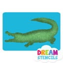 Picture of Alligator Glitter Tattoo Stencil - HP-1 (5pc pack)