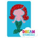 Picture of Baby Mermaid Glitter Tattoo Stencil - HP (5pc pack)