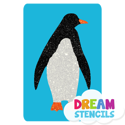 Picture of Penguin Glitter Tattoo Stencil - HP (5pc pack)