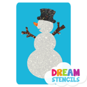 Picture of Snowman Glitter Tattoo Stencil - HP (5pc pack)