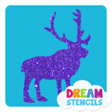 Picture of Reindeer Glitter Tattoo Stencil - HP-25 (5pc pack)