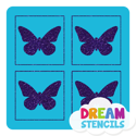 Picture of Mini 4 in 1 Butterfly Glitter Tattoo Stencil - HP-70 (5pc pack)