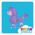 Picture of Poodle Glitter Tattoo Stencil - HP-82 (5pc pack)