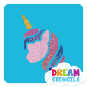 Picture of Unicorn Head Glitter Tattoo Stencil - HP (5pc pack)