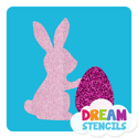 Picture of Easter Bunny with Egg Glitter Tattoo Stencil - HP-95 (5pc pack)