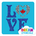 Picture of Love Canada Glitter Tattoo Stencil - HP-81 (5pc pack)