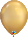 "Picture of 7"" Qualatex Chrome Gold round balloons - (100/bg)"