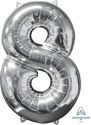 Picture of 26'' Mid-Size Shape Number 8 - Silver (1pc)