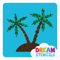 Picture of Palm Trees Glitter Tattoo Stencil - HP-149 (5pc pack)