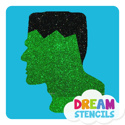 Picture of Frankenstein Face Glitter Tattoo Stencil - HP-180 (5pc pack)