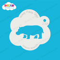 Picture of Hippopotamus- Dream Stencil - 230