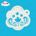 Picture of Cascading Maple Leaves With Swirls  - Dream Stencil - 129