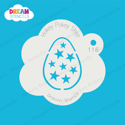 Picture of Easter Egg with Stars - Dream Stencil - 116