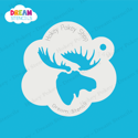 Picture of Moose  Head - Dream Stencil - 140