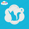 Picture of Cat Hi Five - Dream Stencil - 223