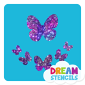 Picture of Assorted Butterflies Glitter Tattoo Stencil - HP-217 (5pc pack)