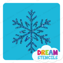 Picture of Sparkly Snowflake Glitter Tattoo Stencil - HP-243 (5pc pack)